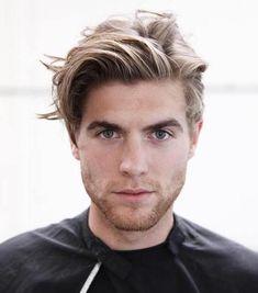 Men's Medium Blonde Hairstyle