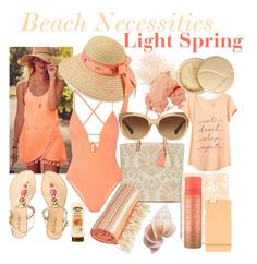 Beach Necessities-Light Spring by prettyyourworld on Polyvore featuring beauty, Eve Lom, Jane Iredale, Bobbi Brown Cosmetics, Coach, Richmond & Finch, Casetify, Betmar, New Look and Banana Republic