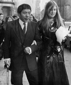 Chögyam Trungpa Rinpoche with his wife, Diana, shortly after their marriage, when she was 16 and he was 30.