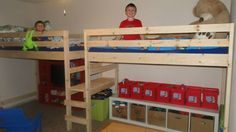 Double Twin Camp Loft Bed | Do It Yourself Home Projects from Ana White