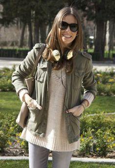 Chaqueta-Cazadora Verde botella   Anine Bing , Otoño-Invierno 2014. En el armario de martacarriedo desde el 22-2-2014 Casual Look, Raincoat, Vest, Tunic Tops, Jackets, Outfits, Women, Ideas, Fashion