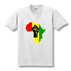 AFRICA Power Rasta Reggae Music Logo men's t-shirt man Cotton Print short sleeve t shirt