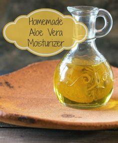 Homemade Aloe Vera Moisturizer - Great DIY recipe