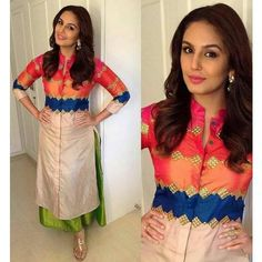 Nice -https://www.cooliyo.com/product/96670/dupion-silk-patch-work-multicolour-semi-stitched-bollywood-designer-suit/