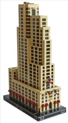 International Building Front | ReBrick | From LEGO Fan To LEGO Fan