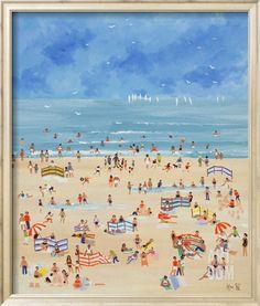 Beach Scene Print.... http://www.beachblissdesigns.com/2017/02/whimsical-beach-scene-print.html