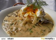 Houby na kyselo se smetanou recept - TopRecepty.cz Bon Appetit, Stew, Risotto, Mashed Potatoes, Stuffed Mushrooms, Food And Drink, Cheese, Ethnic Recipes, Diet