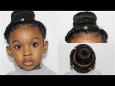 Crown Braided Bun Hairstyles For Girls Fleeky Hair In Cute Bun Hairstyles, Girls Natural Hairstyles, Kids Braided Hairstyles, Teen Hairstyles, School Hairstyles, Haircuts, Hairstyle For Girls Video, Kids Hairstyle, Wedding Hairstyle