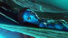 Zoe Saldana and Sam Worthington in Avatar Avatar 3d, Avatar Movie, Blue Avatar, Beau Film, New Movies, Good Movies, Movies And Tv Shows, Avatar James Cameron, Science Fiction