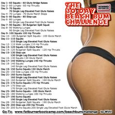 30+day+leg+challenge+for+women | The 30 Day Beach Bum Challenge – How To Win Miss Bum Bum and Your ...