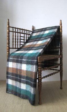 Vintage AYERS of CANADA Wool Tartan Plaid by CarliBeardsleyStudio