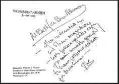 Friendly message from Bill Clinton to terrorist-linked Dar Al Hijrah mosque