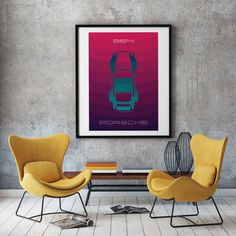 Excited to share the latest addition to my #etsy shop: Porsche 964 poster art, ideal for livingroom or diningroom, porsche wall art, printable art Etsy Wall Art, Poster Wall, Printable Art, Poster Art, Art