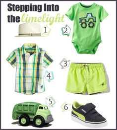Summertime Lime   #boy #summer #clothes  / skip 2