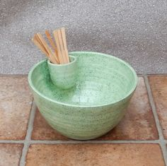 Olive Serving Dish  Hors D'Oeuvres Bowl Hand Thrown Pottery Ceramic by Caractacus Pots on Gourmly