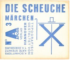 Die Scheuche (the scarecrow) by Kurt Schwitters, Kate Steinitz and Theo Van Doesburg - 1925 Kurt Schwitters, Modern Graphic Design, Graphic Design Typography, Typo Design, Graphic Art, Typography Letters, Lettering, Theo Van Doesburg, Fluxus