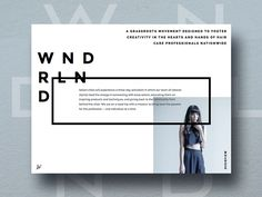A page from the WNDRLND sponsorship deck. The typography combo here is one of our favorite elements of this design.