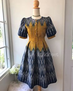 African Attire, African Fashion Dresses, African Dress, Fashion Outfits, Traditional Dresses Designs, Traditional Outfits, Gowns For Girls, Baby Girl Dresses, Ikkat Dresses