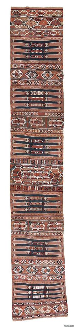 Vegetable-dyed Antique Malatya Kilim Runner Rug around 110 years old and in very good condition.