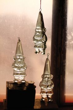recycled hanging glass gnome | gnome suncatcher | glass gnome ornament