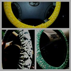 Steering wheel covers taylor and I made! :)