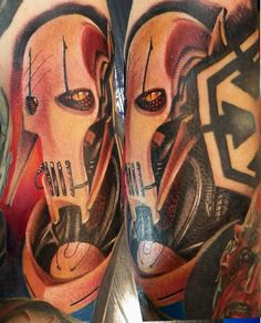 general grievous from star wars tattoo by Maxi Pain! https://www.facebook.com/maxipaintattoo