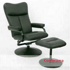 El sillón reclinable con pouf CONRAD te proporcionará el mejor confort en el tiempo de relax que disfrutes en casa. ¡Tus siestas serán de campeonato!