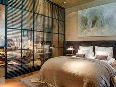 Glas met shutters voor slaapkamer in loft  Wolterinck   Project   Wolterinck Laren