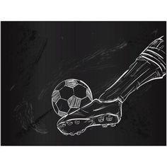 Kick the Soccer Ball Sketch Art by Eazl, Silver Soccer Art, Soccer Guys, Soccer Drawing, Guy Drawing, Soccer Goal Post, Fittness, Reggae Art, Adobe Illustrator, Boy Illustration