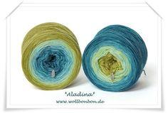 Wollbonbon, Garne mit Farbverlauf