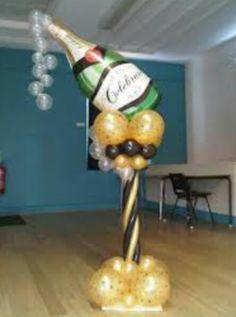 Champagne balloon column