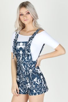 Siren's Call Short Overalls – LIMITED ($99AUD) by BlackMilk Clothing