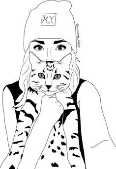 Imagen de animal, sketch, and art