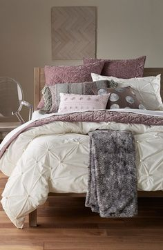 Nordstrom at Home 'Abstract Gathers' Duvet & 'Kiera' Velvet Quilt Bedding Collection available at #Nordstrom