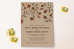 Bud and Blossom Wedding Invitations by Pistols at minted.com