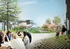 Image 2 of 9 from gallery of Plans Revealed for Denmark's Delta District in Vinge. Courtesy of SLA and the Municipality of Frederikssund A As Architecture, Architecture Visualization, Sustainable City, Water Management, Social Housing, Outdoor Landscaping, Denmark, Landscape Design, Dolores Park