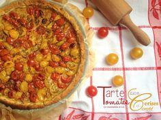 Tarte aux tomates cerises et pâte aux herbes