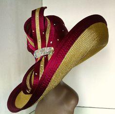 Maroon and Gold - Harriet Rosebud Hats