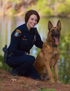 1st female K-9 handler in her unit this is nice and proof that women have been held down by society! A woman K-9 handler is only logical! Two words every family dog knows for sure; MOM, outside!