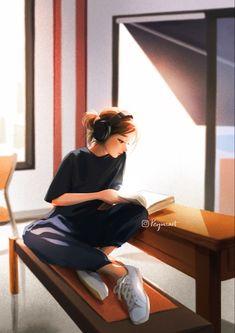 Beautiful Girl Drawing, Cute Girl Drawing, Cartoon Girl Drawing, Cartoon Girl Images, Cute Cartoon Girl, Cartoon Art Styles, Foto Fantasy, Girly Drawings, Digital Art Girl