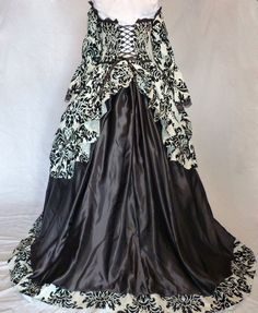 Custom Made Marie Antoinette Gothic Rocco Gown. £400.00, via Etsy.
