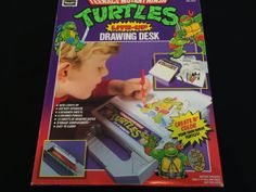 TMNT LiteUp Drawing Desk 1990 by modernnostalgic on Etsy, $30.00
