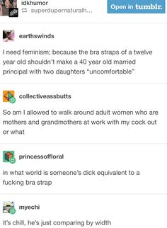... a dick is a body part. A bra strap is a piece of freaking clothes