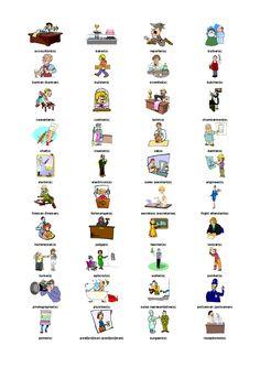 Impariamo un po' i nomi dei lavori in inglese !!