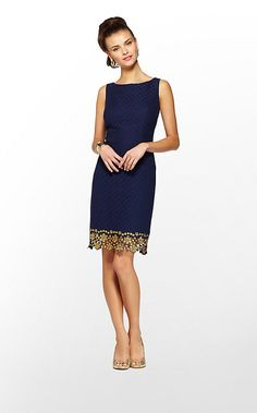 """For we Southern ladies- Love this Lilly Pulitzer """"Dawson"""" in Navy and Gold.  (DATE NIGHT)"""