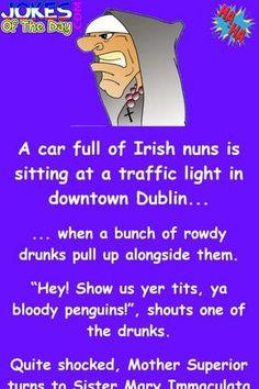 Funny Irish Jokes, Funniest Short Jokes, Funny Jokes For Adults, English Jokes, Funniest Things, Comedy Quotes, Funny Quotes, Comedy Comedy, Motivational Quotes