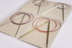 Martha Stewart 4-pocket sheet protectors used to store and organize circular knitting needles | tausigma makes