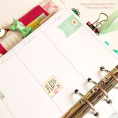 Chelley Darling   Free Planner Printable: Whimsical Week On Two Pages