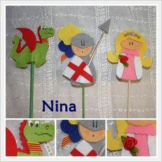 Nina: El caballero y la princesa... la leyenda Diy And Crafts, Crafts For Kids, Arts And Crafts, Activities For Kids, Castle Crafts, Knight Party, Jar Art, Finger Puppets, Conte