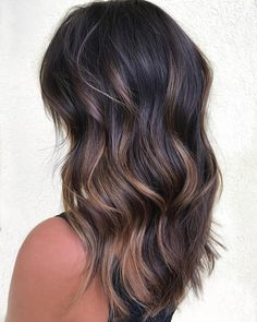 hair hair styles, balayage hair ve dyed hai Brown Hair Balayage, Balayage Brunette, Hair Color Balayage, Brunette Hair, Hair Highlights, Ombre Hair, Dark Balayage, Bayalage, Blonde Hair